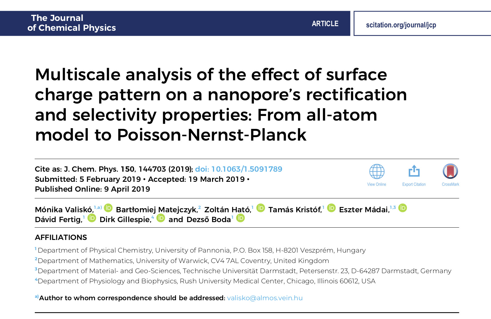 Multiscale analysis of the effect of surface charge pattern